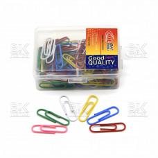 Скрепки цветные 22 мм DINGLI в пластик.упак, европодвес 1028