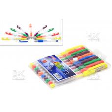 Ручки набор гел неон блеск10цв ZhiYi  Multicolor  G-009  европодвес1 мм