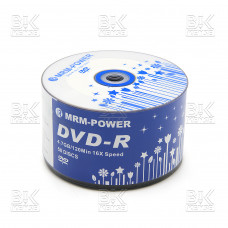 Диск DVD-R 16 х 4,7 GB 120 мин  MRM-POWER 50шт