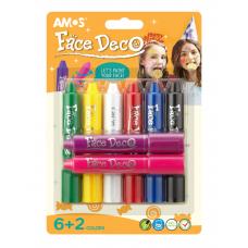 Краски для лица 8цв AMOS FD5B8