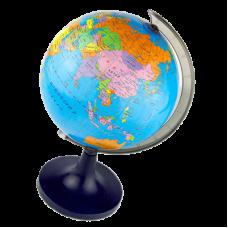 Глобус физико-политический D8,5см J305 на круглой потставке