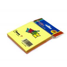 Бумага для заметок 5цв 76х76мм 100л E3 JinXin у12 к/600