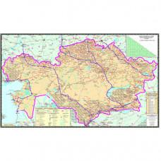 Карта Казахстана автомобильных дорог 50 х 70см