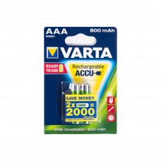 Батарейка Varta R2U Micro 800mAh 1.2V-HR03/AAA (2шт) аккумулятор