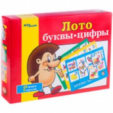 Игра настольная Лото  Буквы-цифры  карт упаковка 80301