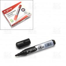 Маркер перманентный Yalong YL875006 черный, пулевидный, 5мм