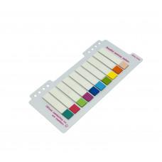 Закладки клейкие пластиковые 10цв 20л 11х55мм P27 JinXin