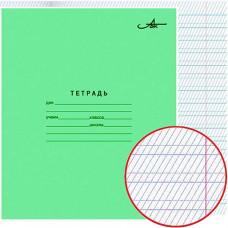 Тетрадь 12л школьная зеленая (Арх.ЦБК) частая косая линия АZ06