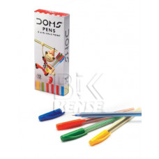 Ручка шарик DOMS  GL 0.6   Blitz  синий стер корпус цв.ассорти