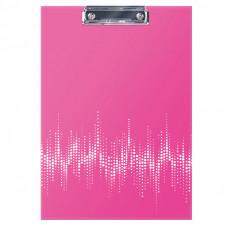 """Планшет с зажимом Berlingo """"Neon"""" А4 ламинированный неоновый розовый 04813"""