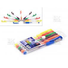 Ручки/набор гел/неон/блеск 6цв ZhiY  Multicolor  G-009 европодвес1 мм