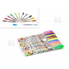 Ручки/набор гел 12цв. Mickey Mouse/M130-12 1 мм, европодвес