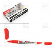 Маркер для CD двусторонний CD XSG X-130 красный