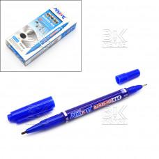 Маркер для CD двусторонний CD Ahuang синий