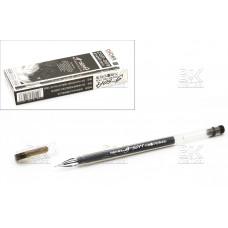 Ручка гел ZGP-009  g-soft черный стер, 0,5мм