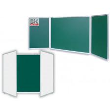 Доска маркерно-меловая/магнитная трехсекционная100 х 300см