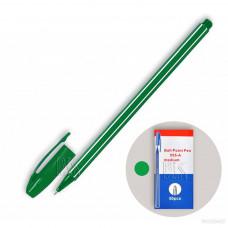 Ручка шарик, 555-A BP зеленый стер,0.7 мм, зеленый корпус , шести гран.  у/50/4000