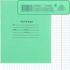 Тетрадь 12л, школьная зеленая крупная клетка Тш12кк-13557