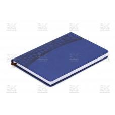 Ежедневник полудат А5 160л голуб/син 2516