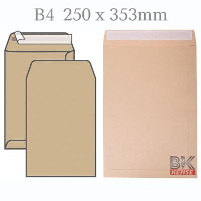 Конверт пакет В4 250*353* корич 120гр