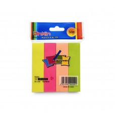 Закладки клейкие бумажные 4цв 100л 19х76мм E-3 JinXin