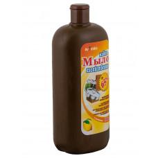 Жидкое мыло Хозяственное 65% Имбирь и Лаим 1100 мл дозатор