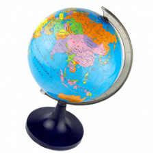 Глобус физико-политический D32см J310 на круглой подставке