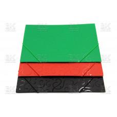 Папка на резинке прозрачно- цветная 988