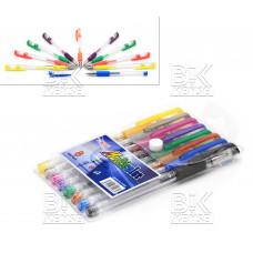 Ручки/набор гел/неон/блеск 8цв ZhiYi  Multicolor  G-009  европодвес1 мм