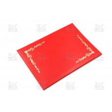 Папка адресная А4 ПВХ,узор красная