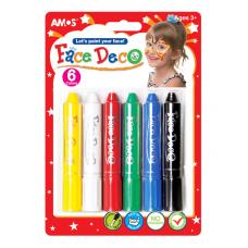 Краски для лица 6 цв AMOS FD5B6