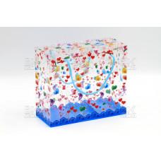 """Пакет подар. """"Пластиковый квадрат"""""""