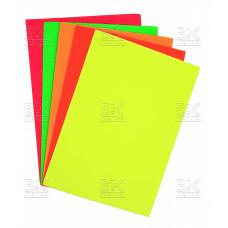Картон цветной гофрированный в наборе 5 цв 10л неон ALMBF