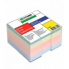 Блок для записи 90х90х50мм ПЦ 61 цветной в боксе (Стамм)