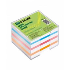 Блок для записи 90х90х50мм БЗ 57 цветной в боксе (Стамм)