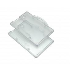 Бейдж горизонтальный прозрачный  пластовый для удостоверений