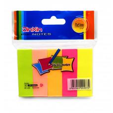 Закладки клейкие бумажные 5цв 100л 15х50мм E2-5 JinXin