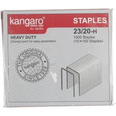 Скобы для степлера 23/20 Kangaro (красный) оцинкованные