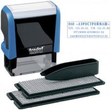 Штамп самонаборный Trodat 4стр 2 кассы пластик 47Х18мм 4912/DВ