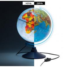 Глобус физико-политический D25см с подсветкой (Globen)