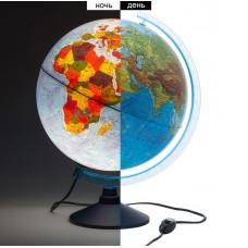 Глобус физико-политический D32см с подсветкой (Globen)