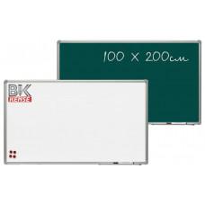 Доска маркерно-меловая магнитная100 x 200см