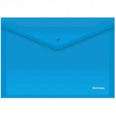 Папка-конверт на кнопке Berlingo, А4, 180мкм, синяя AKk_04102