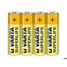 Батарейка Varta Superlife Mignon 1.5V-R6P/AA (4шт) в пленка