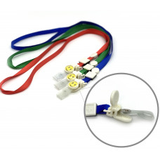 Шнурки для бейджа (цветные смайлики)